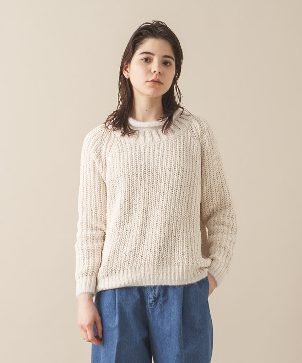 Roll-Neck Pullover - WHITE