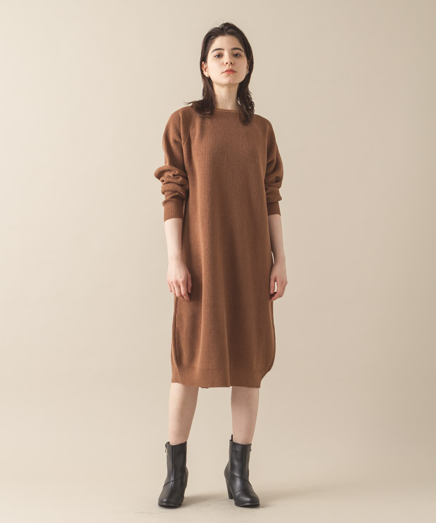 2Way Knit Dress - CAMEL