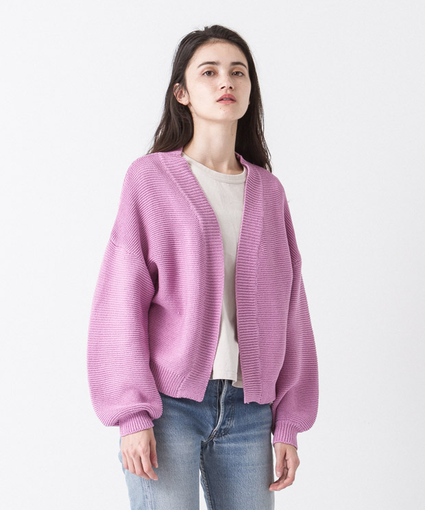 Volume Sleeves Cardigan - PINK
