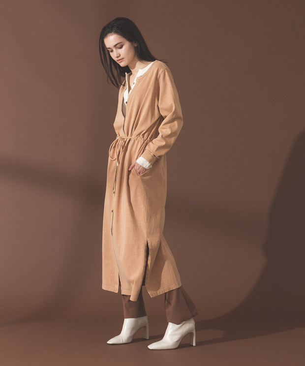 Pigment Dyed Long Cardigan - CAMEL