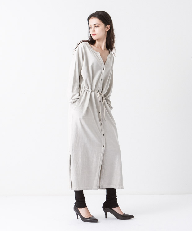Pigment Dyed Long Cardigan - IVORY