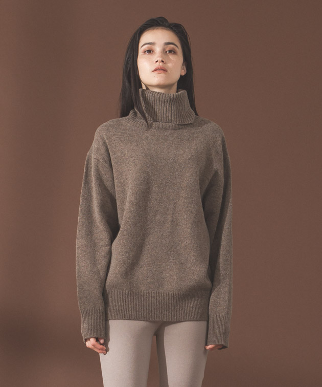 Lambswool Turtleneck Knit - MOCHA