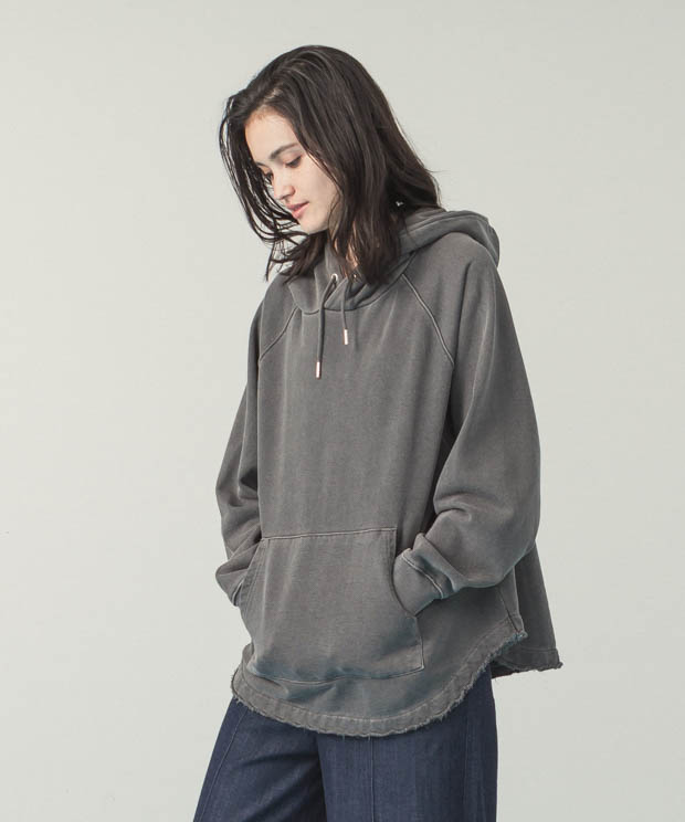 Pigment Dyed Sweat Hoodie - BLACK