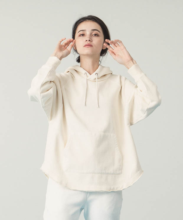 Pigment Dyed Sweat Hoodie - IVORY