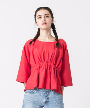 Gathered Blouse - RED