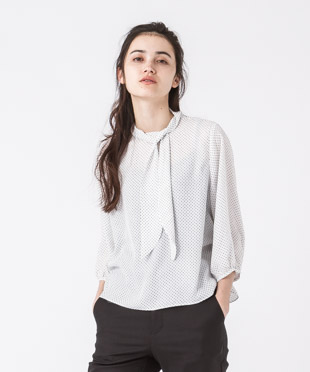 Bow-tie Blouse - MINI/WHITE