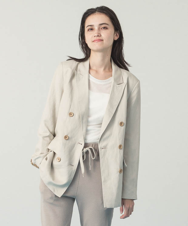 Double Breasted Jacket - BEIGE