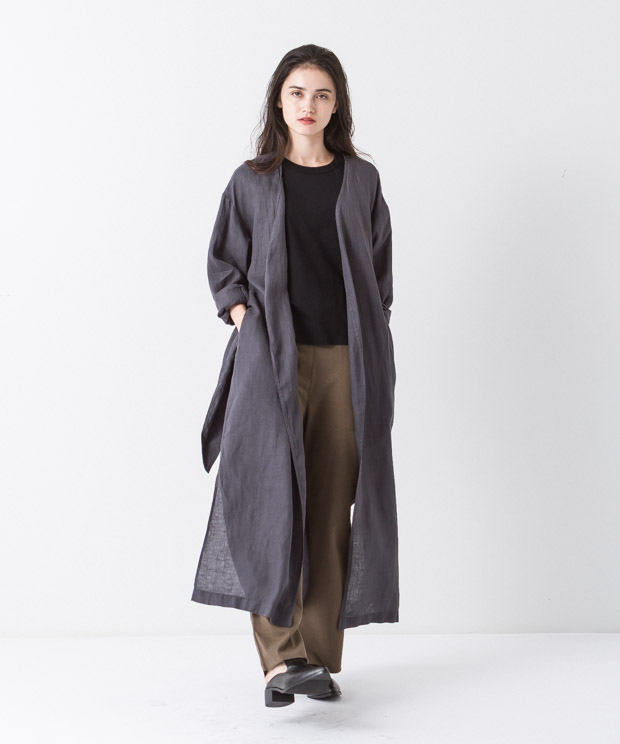 Linen Gown - CHARCOAL