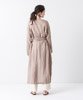 Linen Gown - BROWN