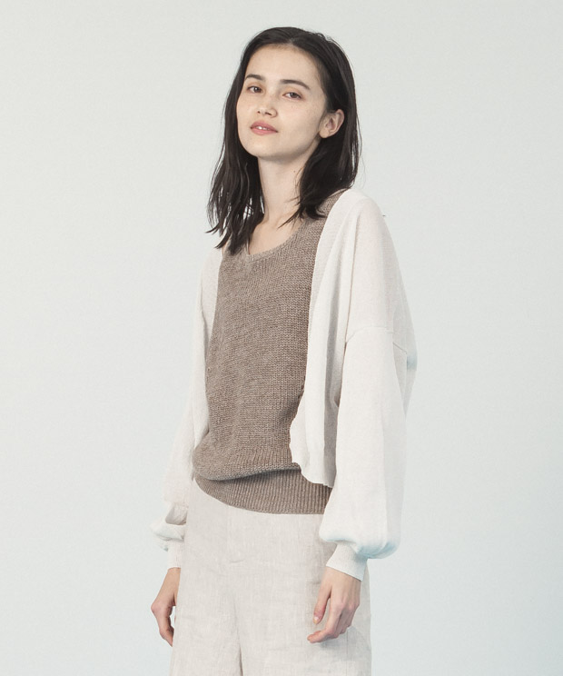 Camifine Knit Cardigan - NATURAL