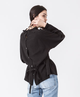 Military Aidman Blouse - BLACK