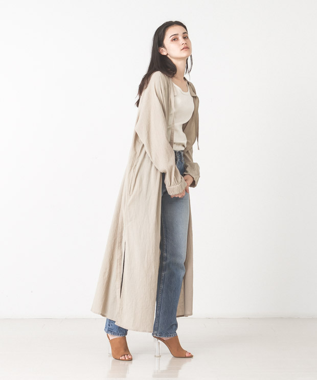 Light Voile Military Aidman Gown - BEIGE