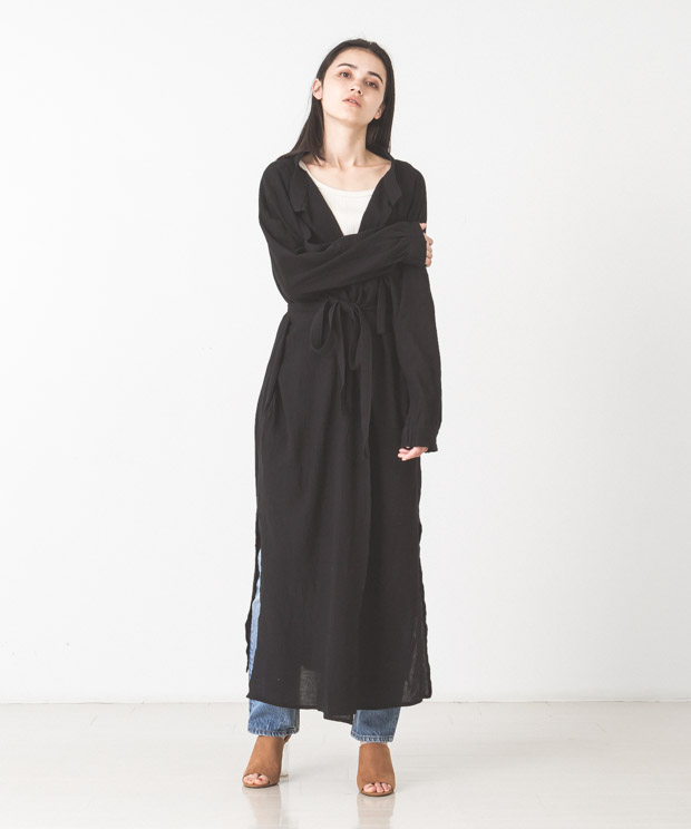 Light Voile Military Aidman Gown - BLACK