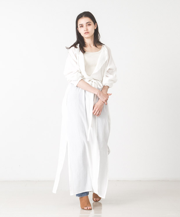 Light Voile Military Aidman Gown - WHITE