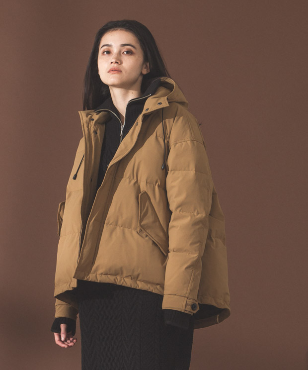 2Layer Short Mods Down Jacket - CAMEL