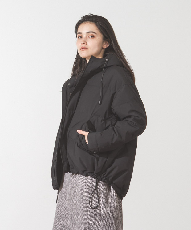 2Layer Short Mods Down Jacket - BLACK