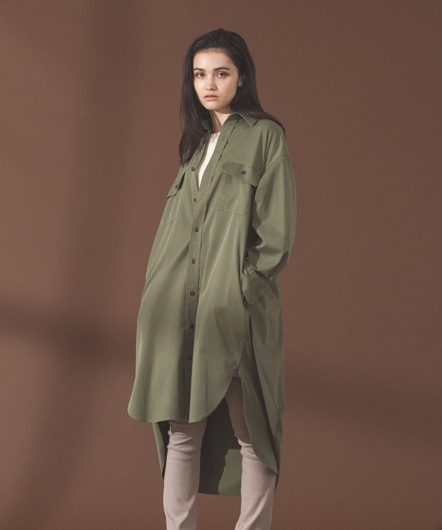 Work Shirt Dress - KHAKI