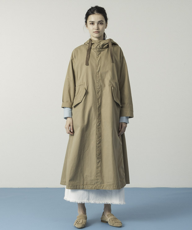 Militaly Hooded Coat - CAMEL