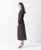 Waist Gathered Dress - BEIGE