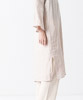 Linen Covered Button Dress - IVORY