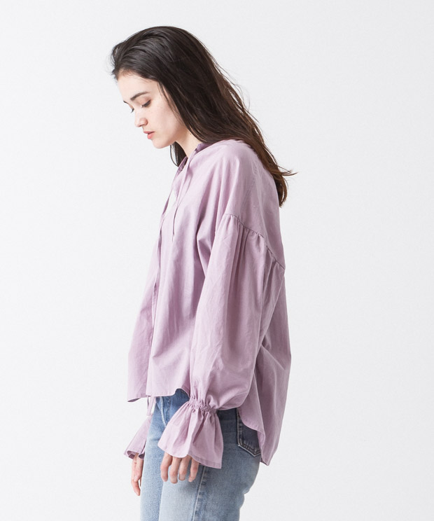 Gathered Sleeves Blouse - PINK