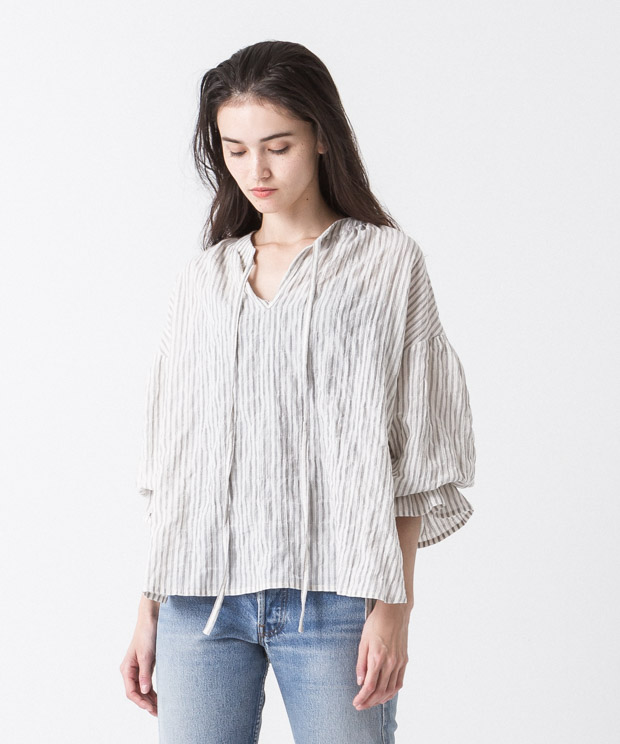 Organic Cotton Gathered Blouse - Pattern A