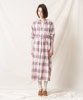 Madras Check Maxi Gown (EXCLUSIVE) - BROWN