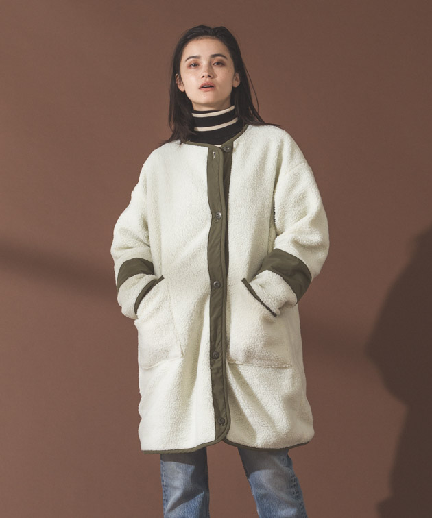Reversible Liner Coat - KHAKI