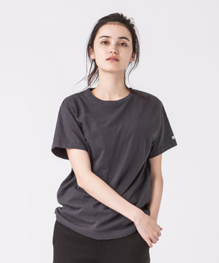 Old Cotton Crewneck T-Shirt - CHARCOAL