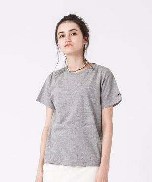Old Cotton Crewneck T-Shirt - GRAY
