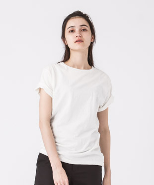 Old Cotton Crewneck T-Shirt - WHITE