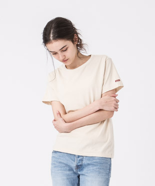 Old Cotton Crewneck T-Shirt - NATURAL