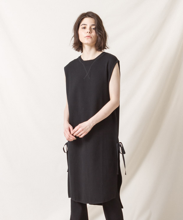 Vintage Thermal Dress - BLACK