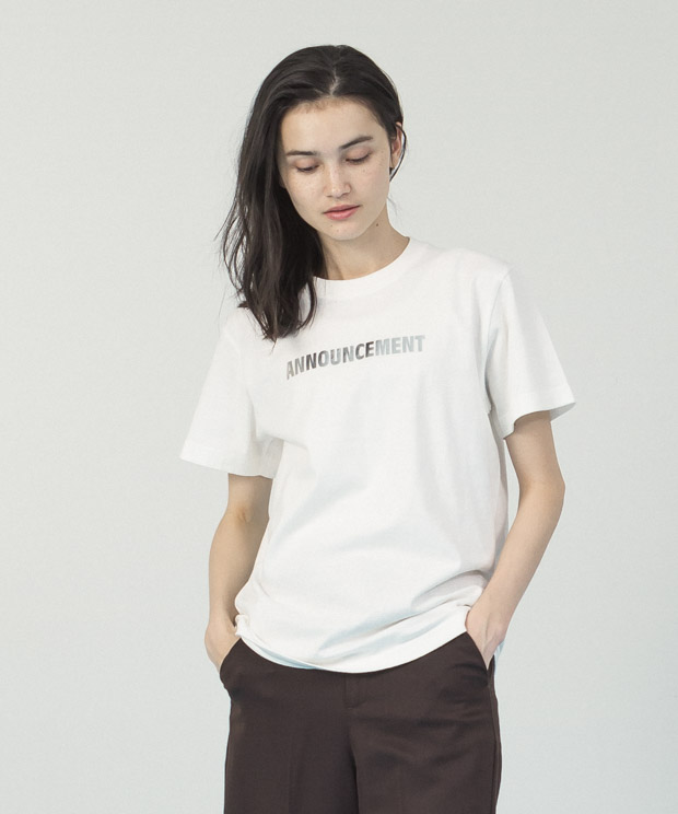 Printed T-Shirt(Quiet Color)  - WHITE