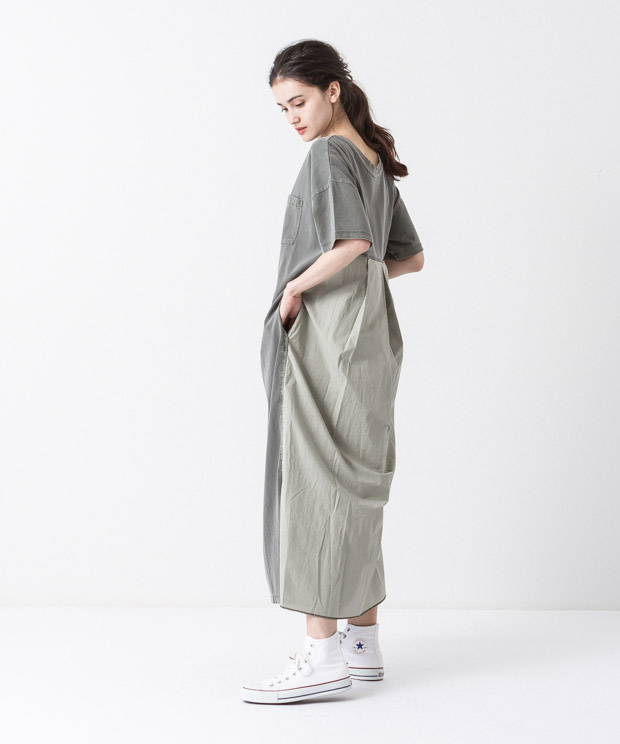 Pigment Dyed Dress - KHAKI