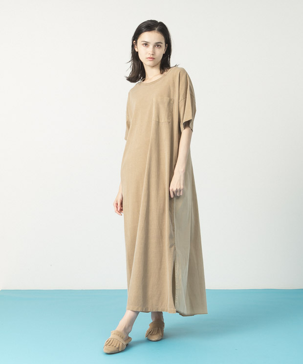 Pigment Dyed Dress - CAMEL
