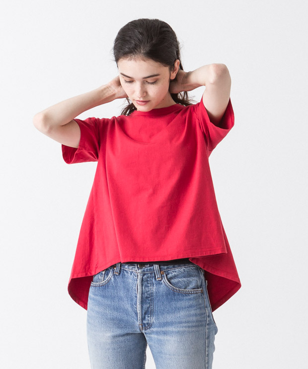 Flare Silhouette Pullover - RED