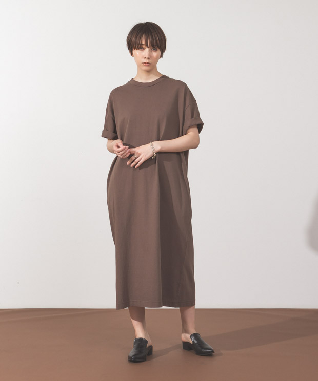 Oversized Dress - BROWN