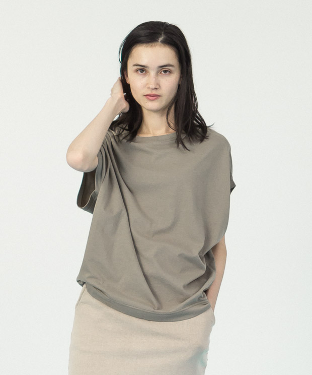 Cotton Rayon Loose T-Shirt  - OLIVE