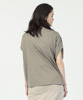 Cotton Rayon Loose T-Shirt  - IVORY