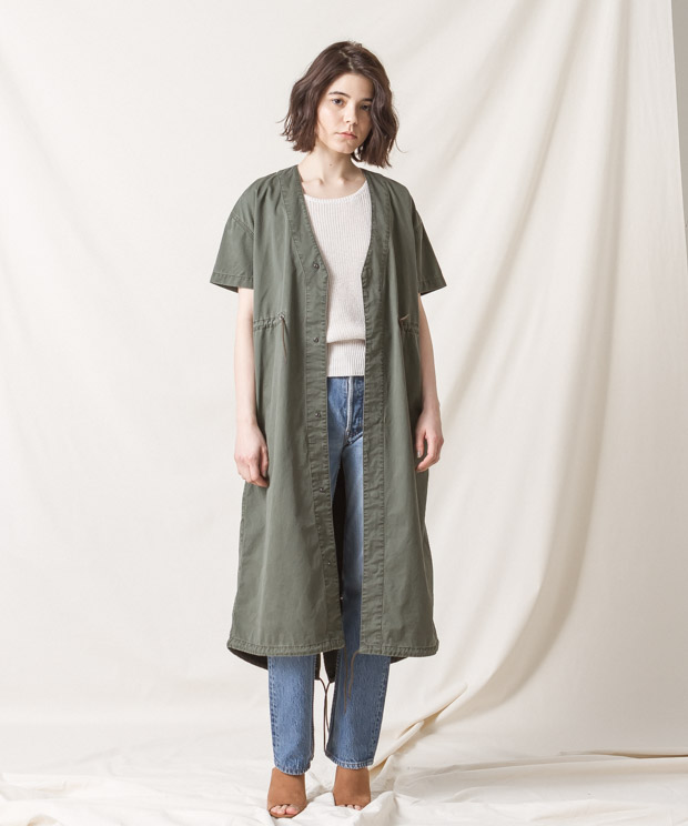 Military Long Jacket - KHAKI