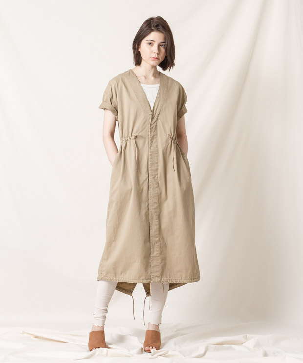 Military Long Jacket - BEIGE