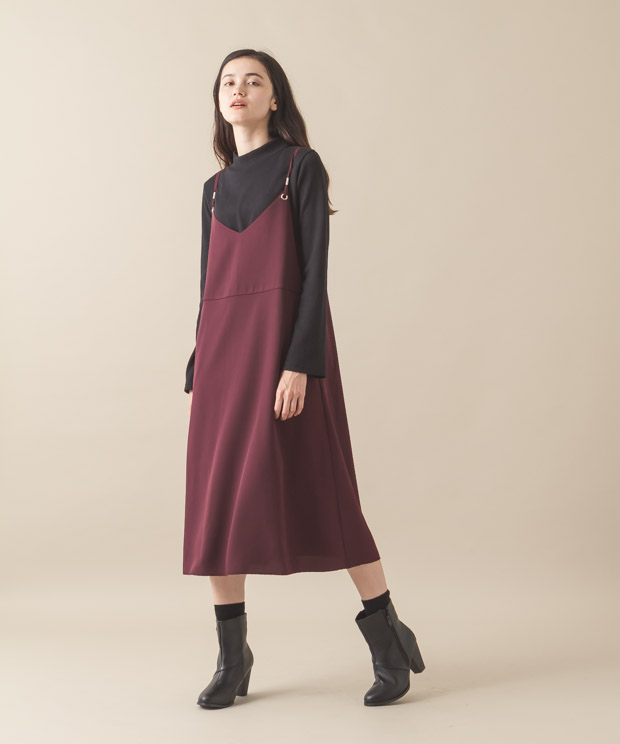 Cami-Dress - BURGUNDY