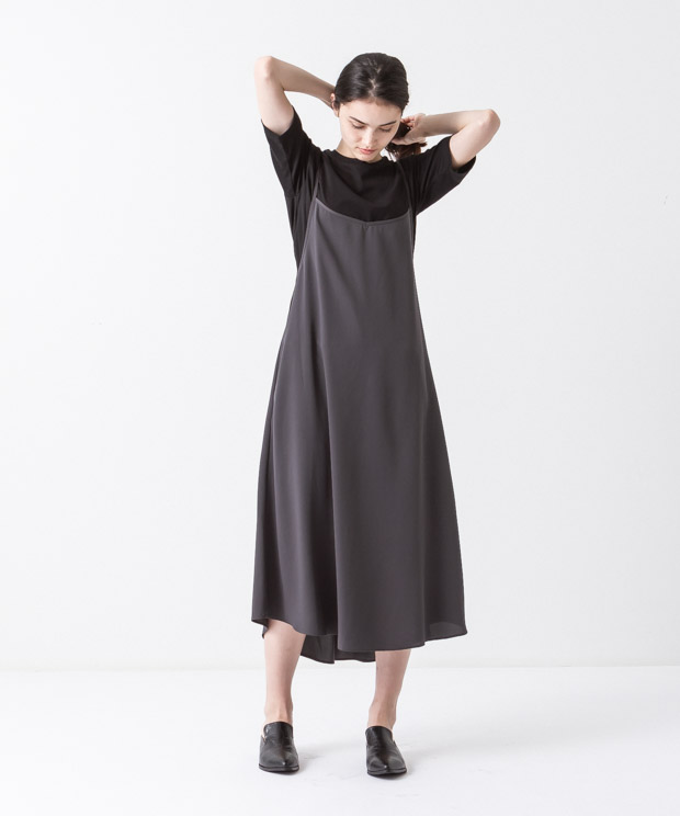 Flared Cami-Dress - CHARCOAL