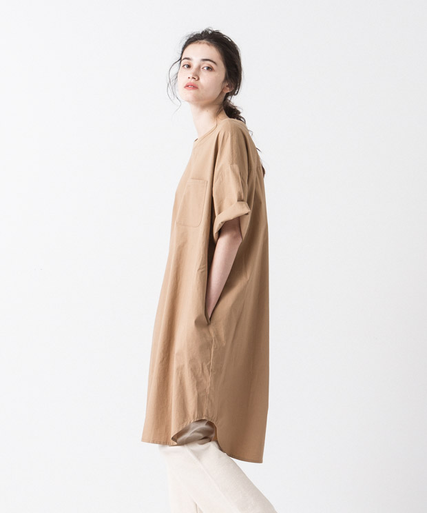Oversized Dress - CAMEL