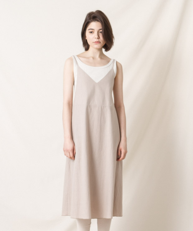 Cami-Dress - BEIGE