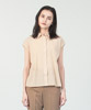 Cotton Chiffon French Sleeves Shirt  - WHITE