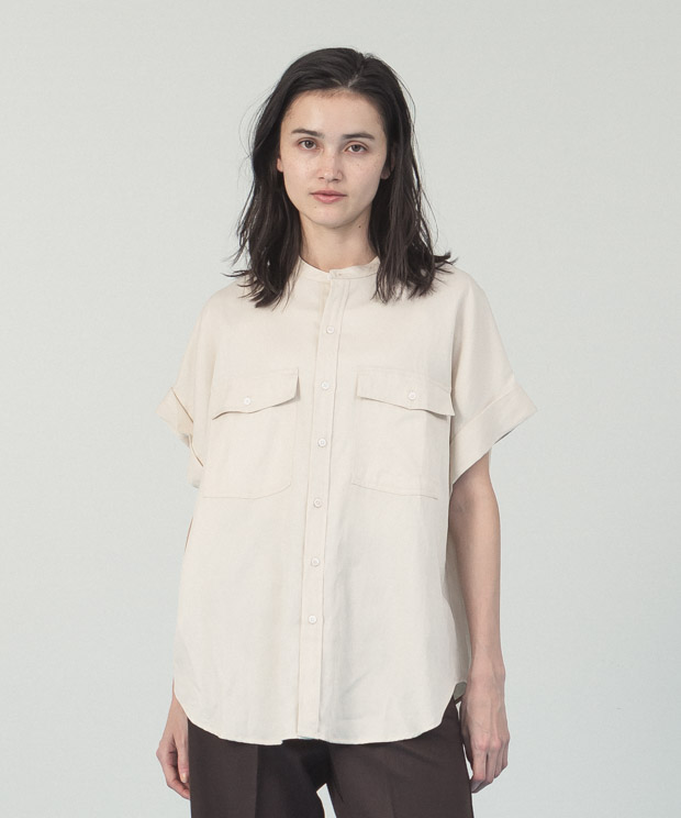 Oversized French  Sleeves Shirt - IVORY