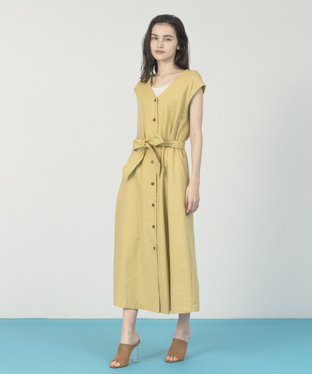 French Sleeves Multi Way Dress - YELLOW