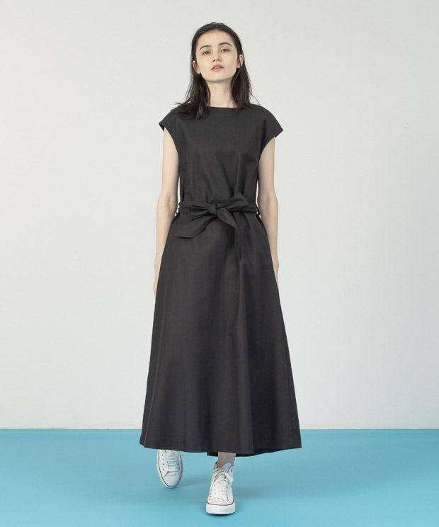 French Sleeves Multi Way Dress - BLACK